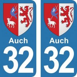 Blason Auch - Stickers...