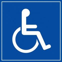 Stickers Accès aux Handicapés