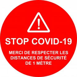 Stickers STOP COVID-19 Rond