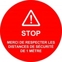 Stickers STOP distance de...